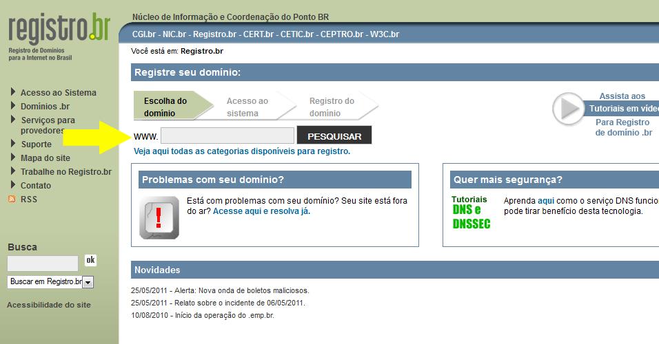 3bf15356c Outra ação simples é verificar se o site em que você pretende fazer uma  compra está devidamente registrado no Brasil. Acesse  a  href