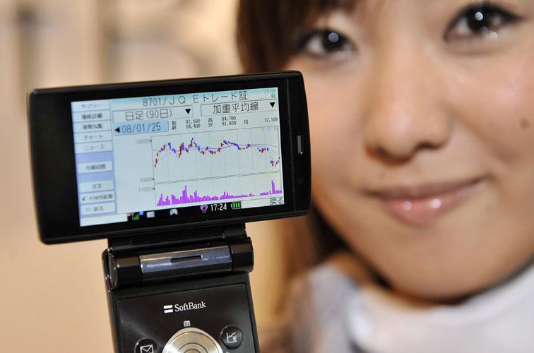 Investimento pelo celular