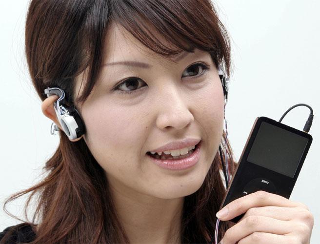 iPod controlado pelos olhos
