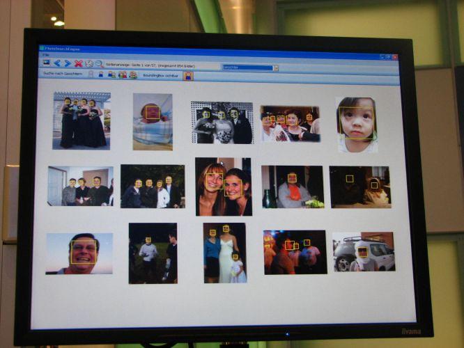 Software encontra rosto em fotos