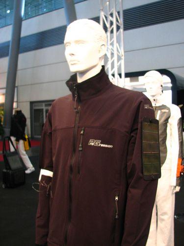 Jaqueta com placa solar