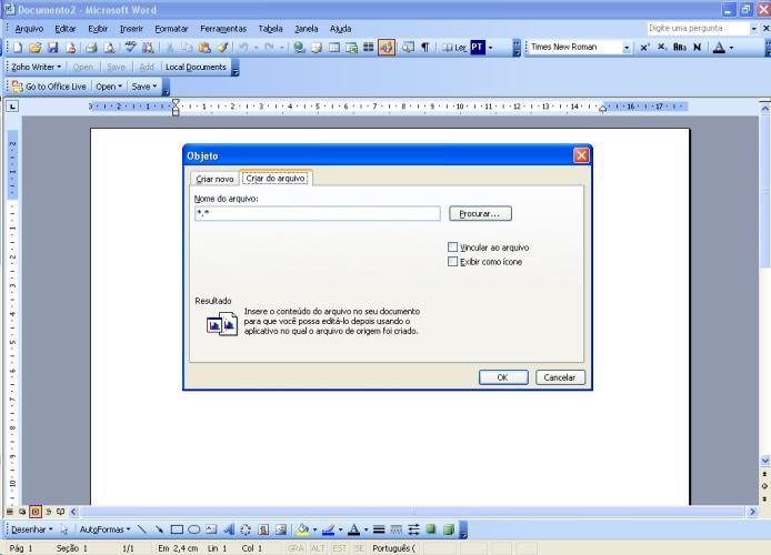 Inserir um arquivo dentro do texto 3