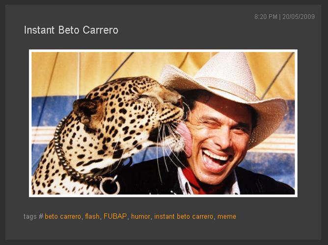 Instant Beto Carrero