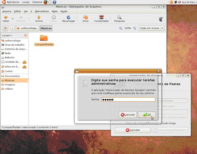 Compartilhe no Ubuntu 4