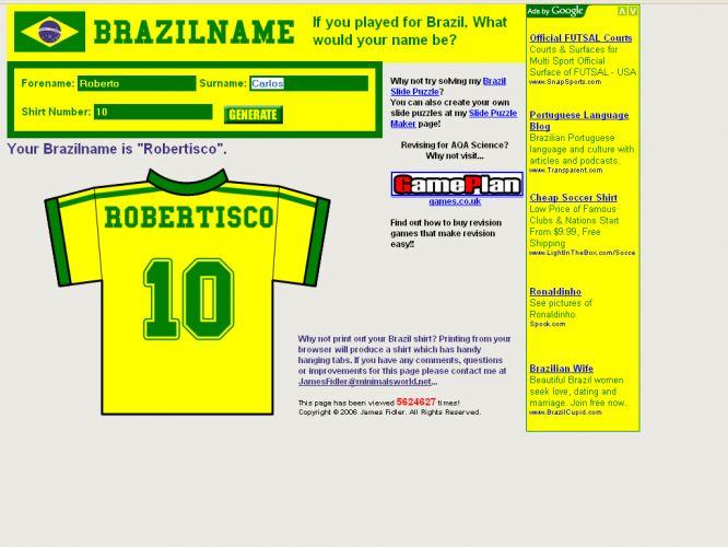 Nome de jogador brasileiro