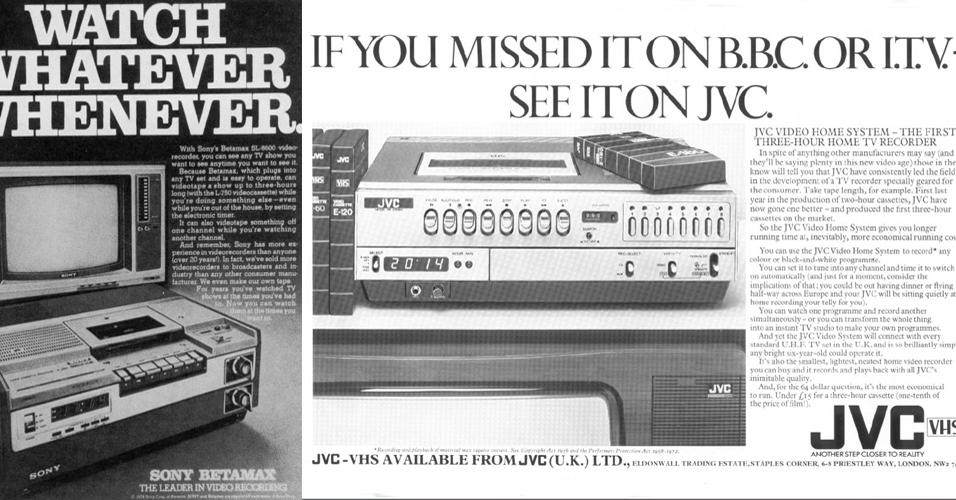 Betamax x VHS