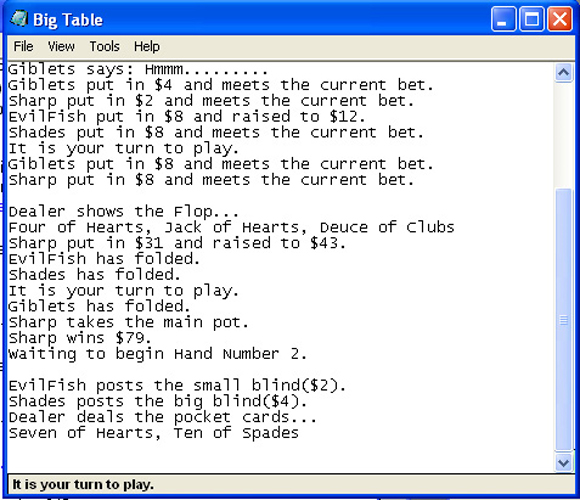 Notepad Poker