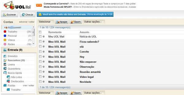 Use contas externas em seu email